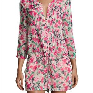 Joie // size small NEW silk romper Amara Floral